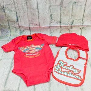 Harley Davidson Infant Girl's 3-6 M Gift Set
